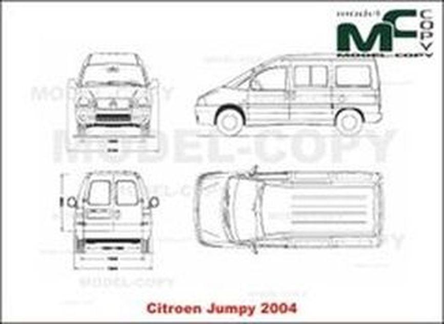 Citroen Jumpy (2004) - 2D drawing (blueprints)