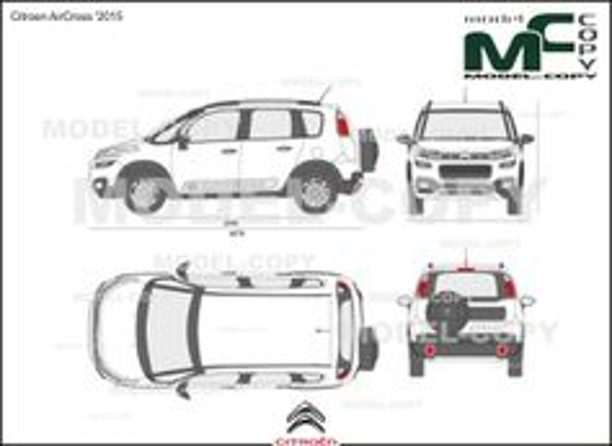 Citroen AirCross '2015 - 2D drawing (blueprints)