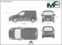 Citroen Berlingo '2015 - 2D drawing (blueprints)