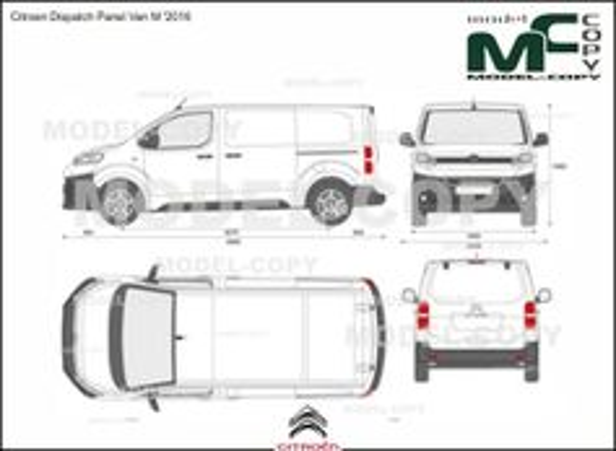 Citroen Dispatch Panel Van M '2016 - 2D drawing (blueprints)