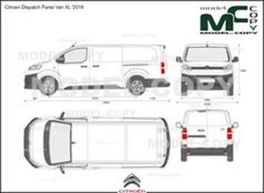 Citroen Dispatch Panel Van XL '2016 - 2D drawing (blueprints)