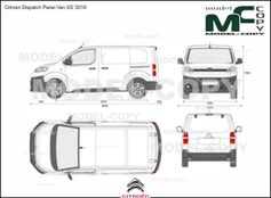 Citroen Dispatch Panel Van XS '2016 - 2D drawing (blueprints)