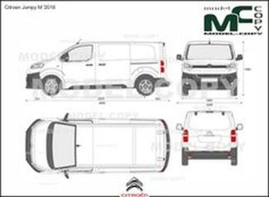Citroen Jumpy M '2016 - 2D drawing (blueprints)