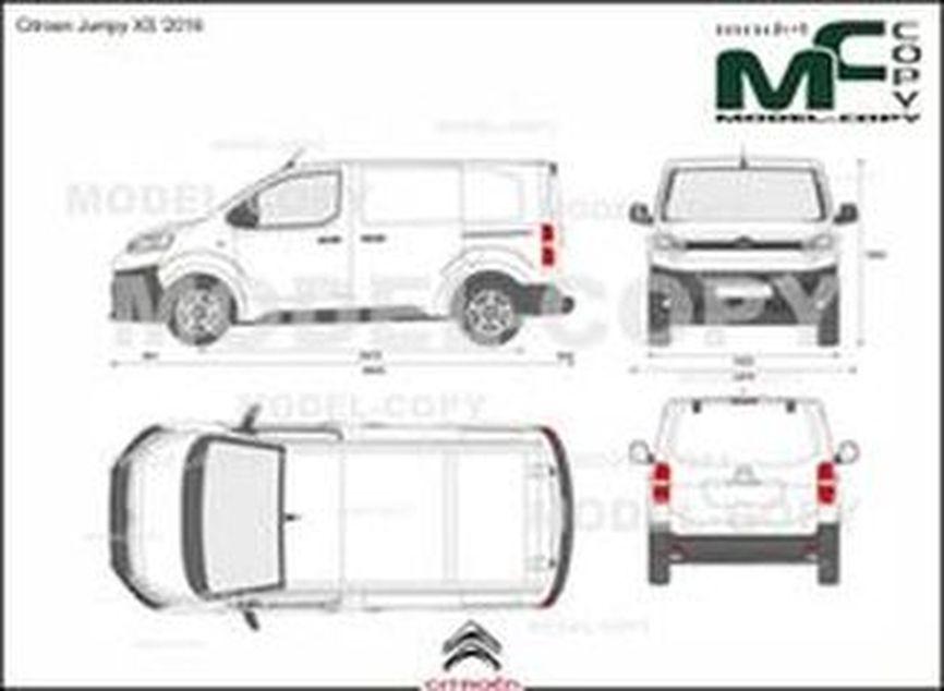 Citroen Jumpy XS '2016 - 2D drawing (blueprints)