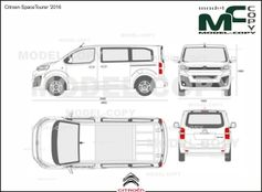 Citroen SpaceTourer '2016 - 2D drawing (blueprints)