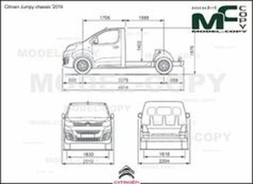Citroen Jumpy chassis '2016 - 2D drawing (blueprints)