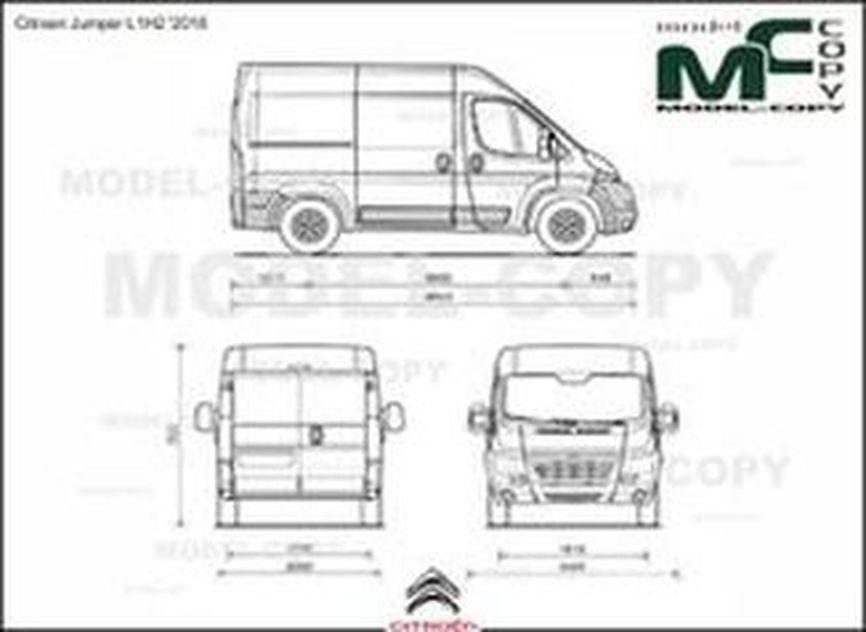 Citroen Jumper L1H2 '2016 - 2D drawing (blueprints)