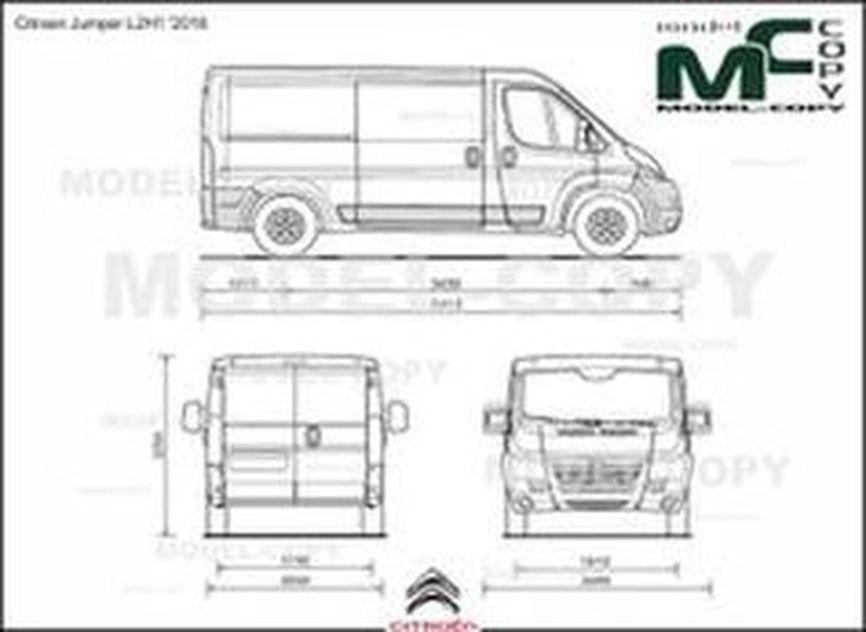 Citroen Jumper L2H1 '2016 - 2D drawing (blueprints)