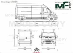 Citroen Jumper L3H3 '2016 - 2D drawing (blueprints)