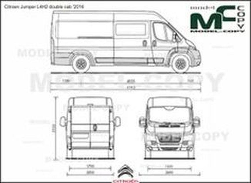 Citroen Jumper L4H2 double cab '2016 - 2D drawing (blueprints)