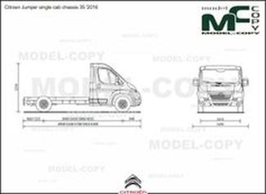Citroen Jumper single cab chassis 35 '2016 - 2D drawing (blueprints)