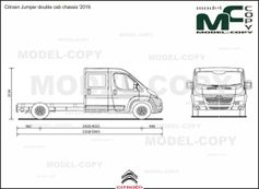 Citroen Jumper double cab chassis '2016 - 2D drawing (blueprints)