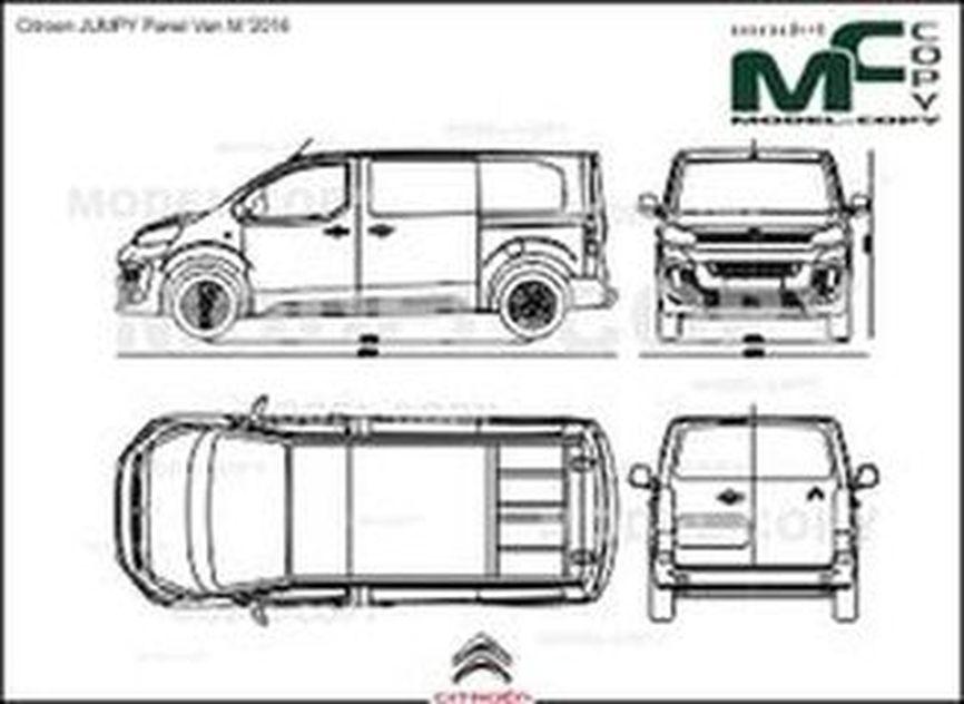 Citroen JUMPY Panel Van M '2016 - drawing