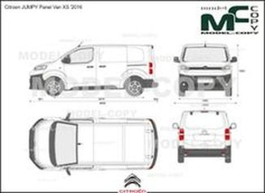 Citroen JUMPY Panel Van XS '2016 - drawing
