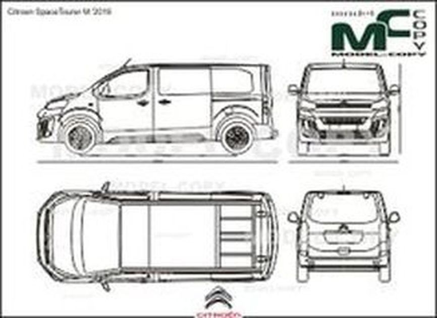 Citroen SpaceTourer M '2016 - drawing
