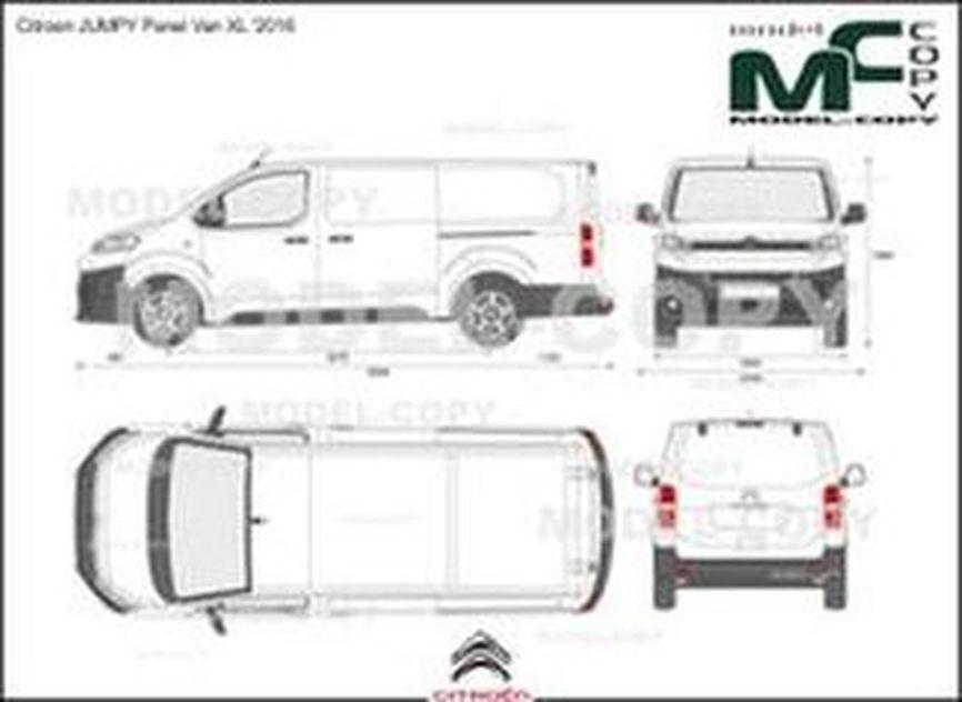 Citroen JUMPY Panel Van XL '2016 - drawing