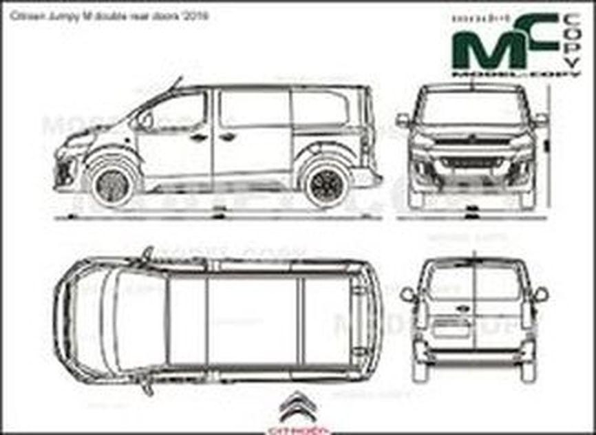 Citroen Jumpy M double rear doors '2016 - drawing