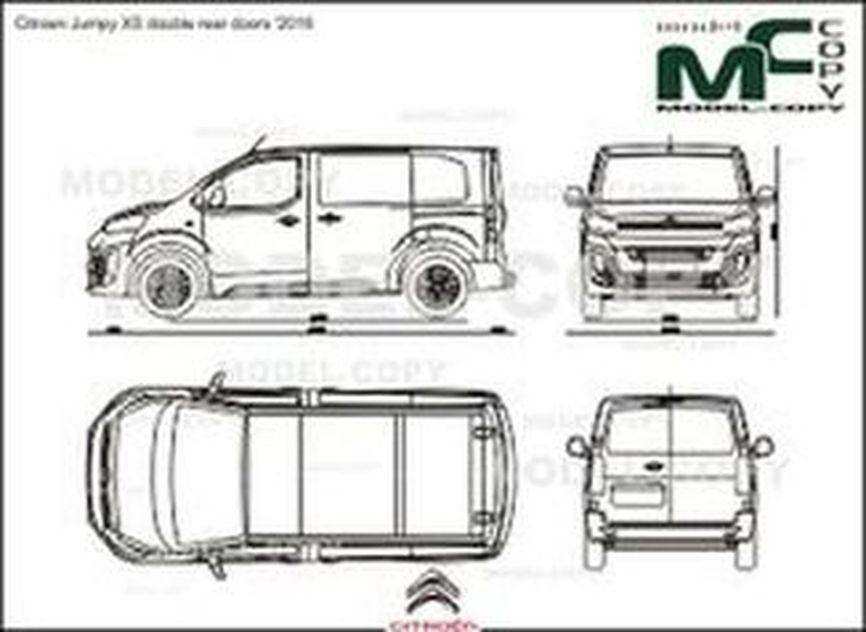 Citroen Jumpy XS double rear doors '2016 - drawing