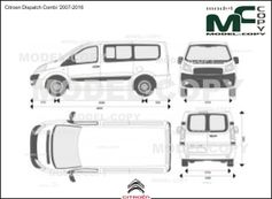 Citroen Dispatch Combi '2007-2016 - 2D drawing (blueprints)