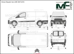 Citroen Dispatch Van LWB '2007-2016 - 2D-чертеж