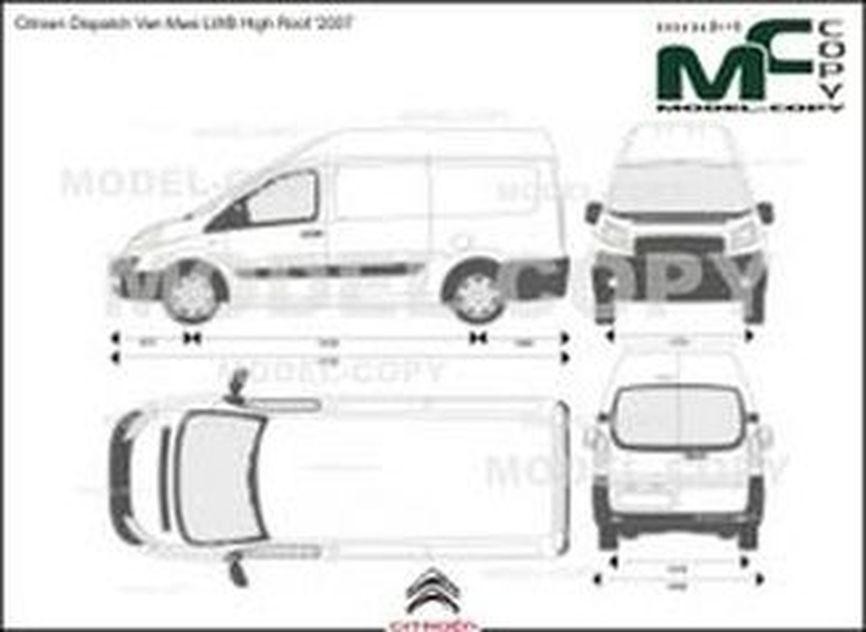 Citroen Dispatch Van Maxi LWB High Roof '2007 - 2D-чертеж
