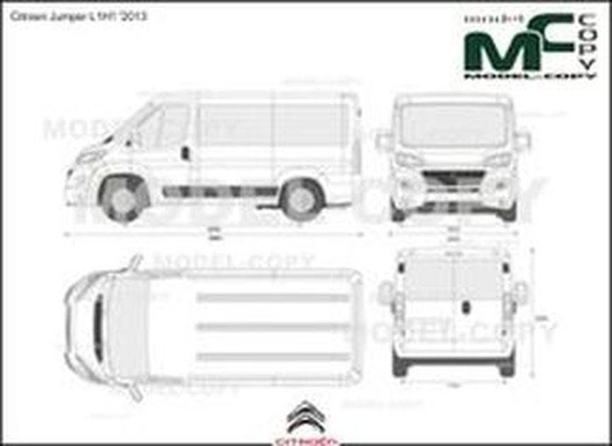 Citroen Jumper L1H1 '2013 - Bản vẽ 2D