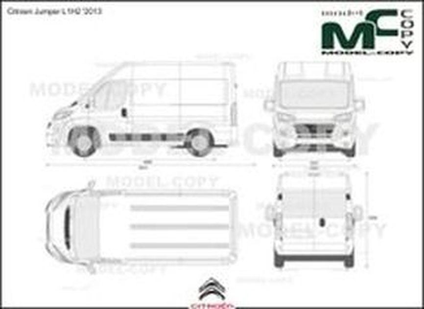 Citroen Jumper L1H2 '2013 - 2D図面