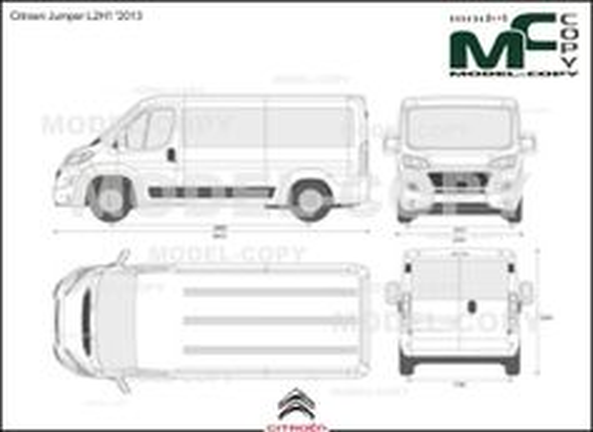 Citroen Jumper L2H1 '2013 - 2D-чертеж
