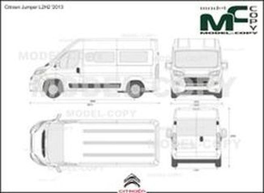 Citroen Jumper L2H2 '2013 - 2D drawing (blueprints)