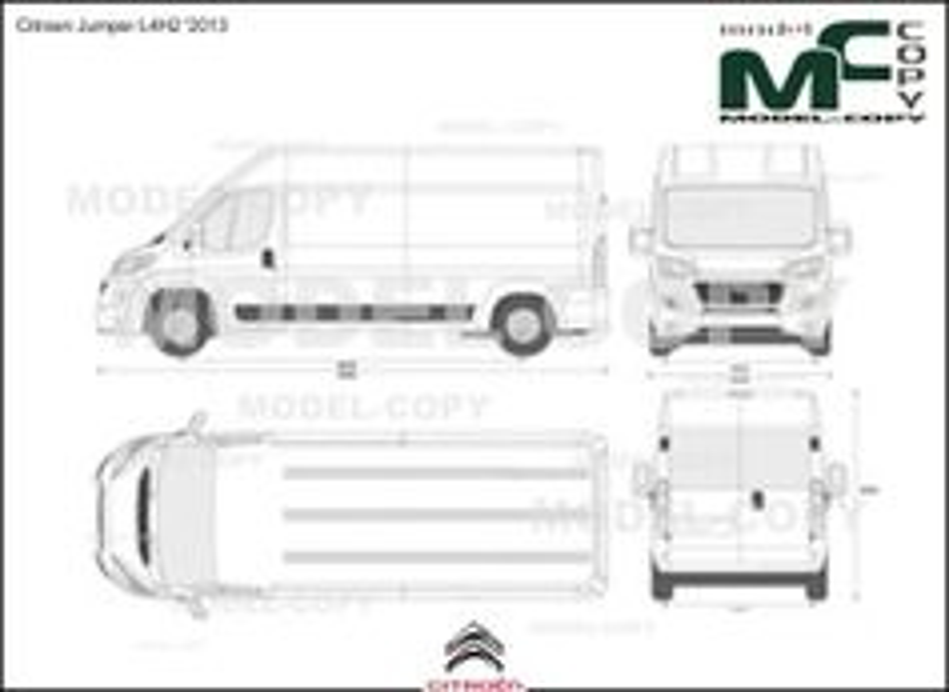 Citroen Jumper L4H2 '2013 - 2D drawing (blueprints)