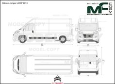 Citroen Jumper L4H3 '2013 - 2D drawing (blueprints)