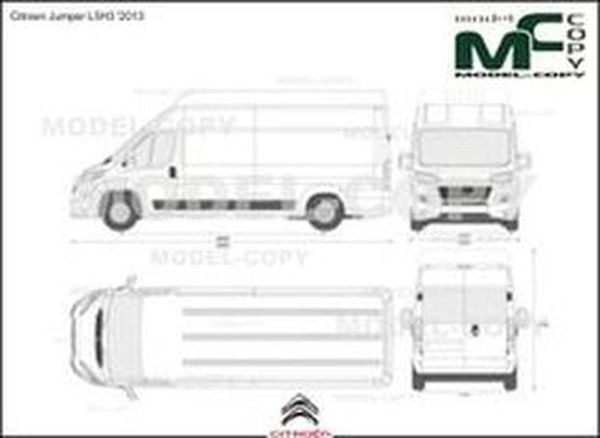 Citroen Jumper L5H3 '2013 - 2D drawing (blueprints)