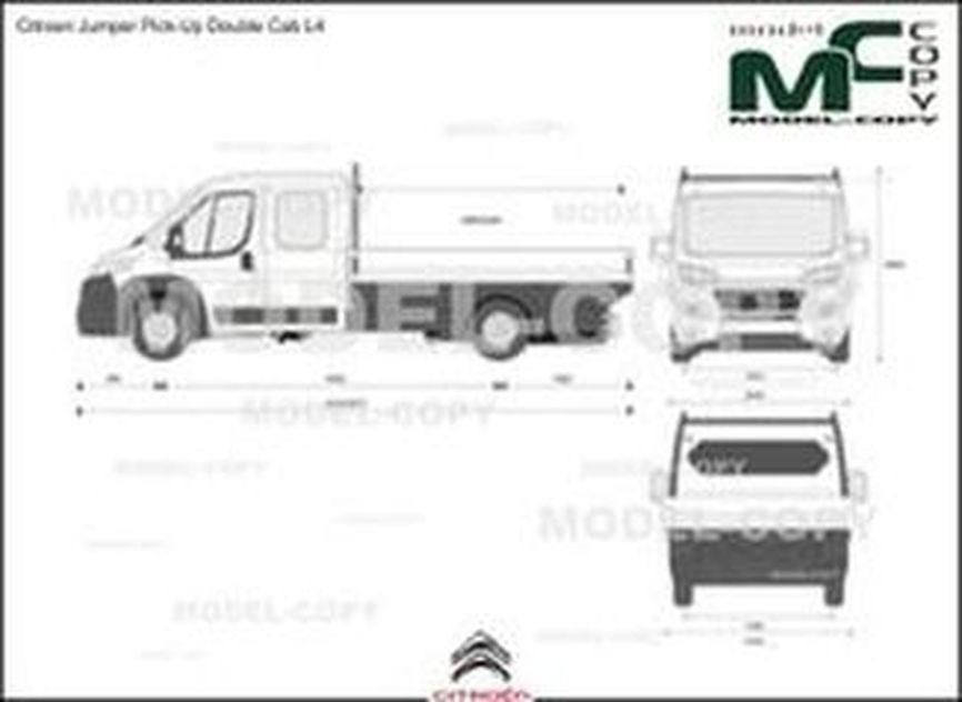 Citroen Jumper Pick-Up Double Cab L4 - 2D図面