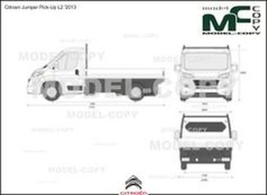 Citroen Jumper Pick-Up L2 '2013 - 2D drawing (blueprints)
