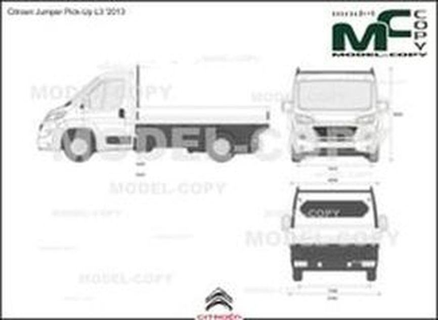 Citroen Jumper Pick-Up L3 '2013 - 2D図面