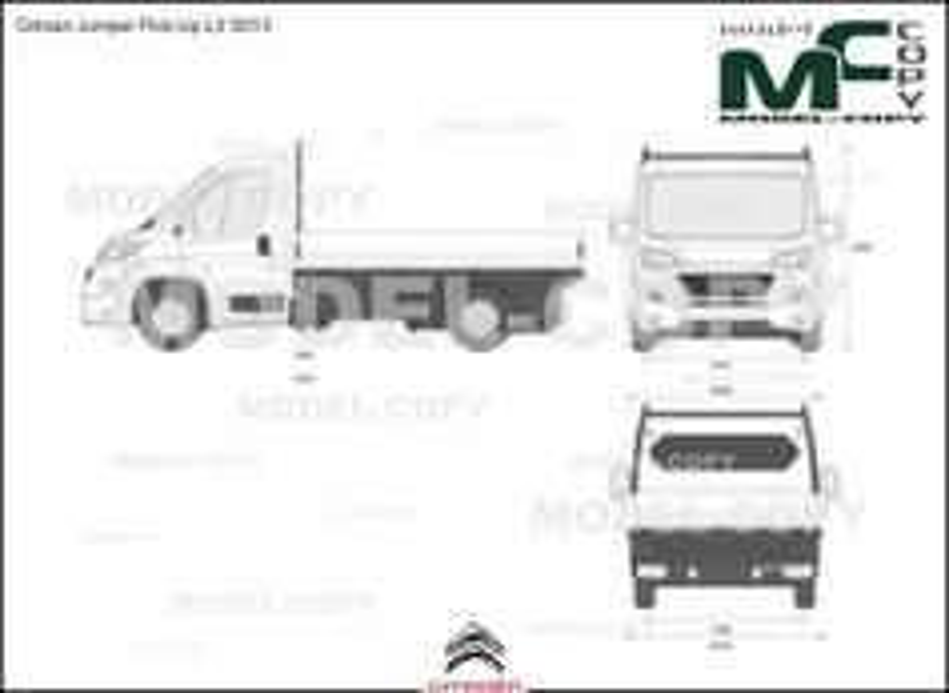 Citroen Jumper Pick-Up L3 '2013 - 2D-чертеж