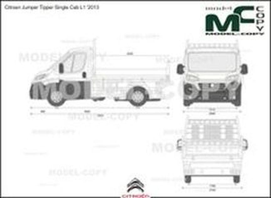 Citroen Jumper Tipper Single Cab L1 '2013 - 2D drawing (blueprints)