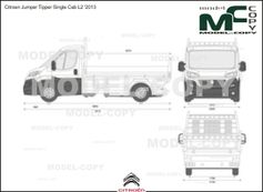 Citroen Jumper Tipper Single Cab L2 '2013 - Dibujo 2D