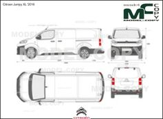 Citroen Jumpy XL '2016 - 2D drawing (blueprints)
