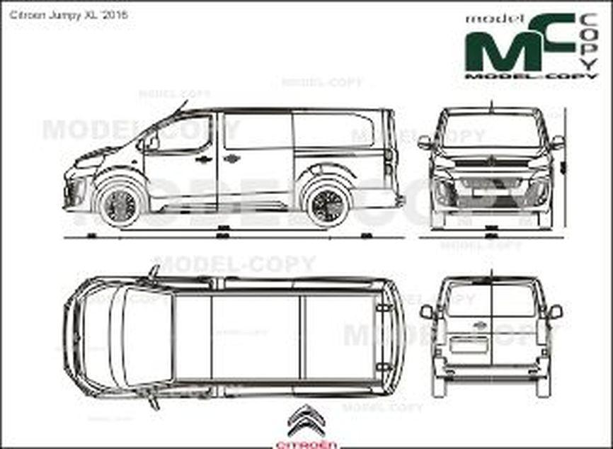 Citroen Jumpy XL '2016 - 2D drawing (blueprints)