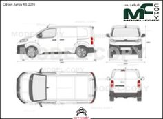 Citroen Jumpy XS '2016 - 2D drawing (blueprints)