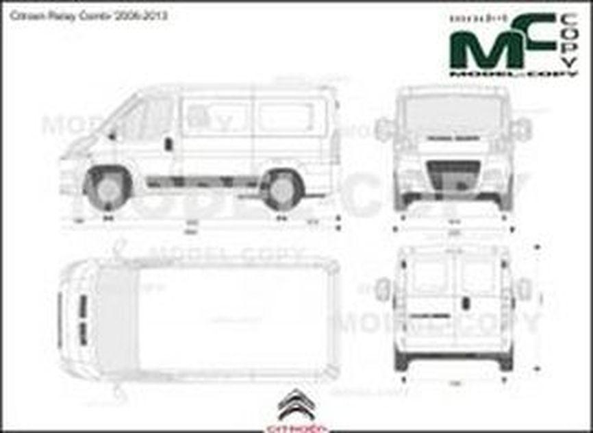 Citroen Relay Combi '2006-2013 - 2D-чертеж