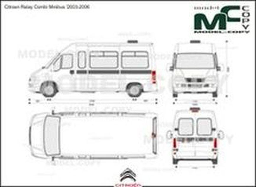 Citroen Relay Combi Minibus '2003-2006 - 2D drawing (blueprints)