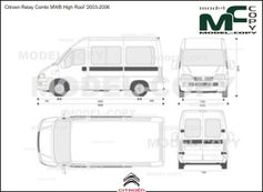 Citroen Relay Combi MWB High Roof '2003-2006 - 2D図面