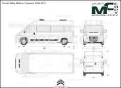 Citroen Relay Minibus 13-person '2006-2013 - 2D-чертеж