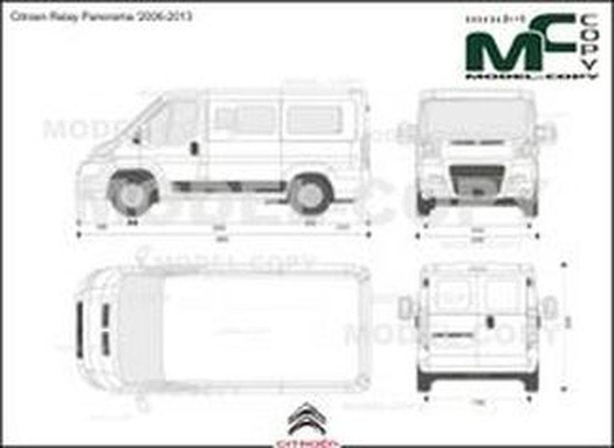 Citroen Relay Panorama '2006-2013 - 2D drawing (blueprints)