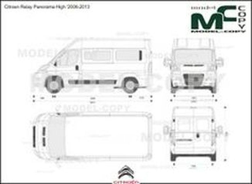 Citroen Relay Panorama High '2006-2013 - 2D drawing (blueprints)