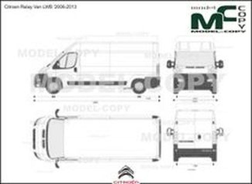 Citroen Relay Van LWB '2006-2013 - 2D drawing (blueprints)