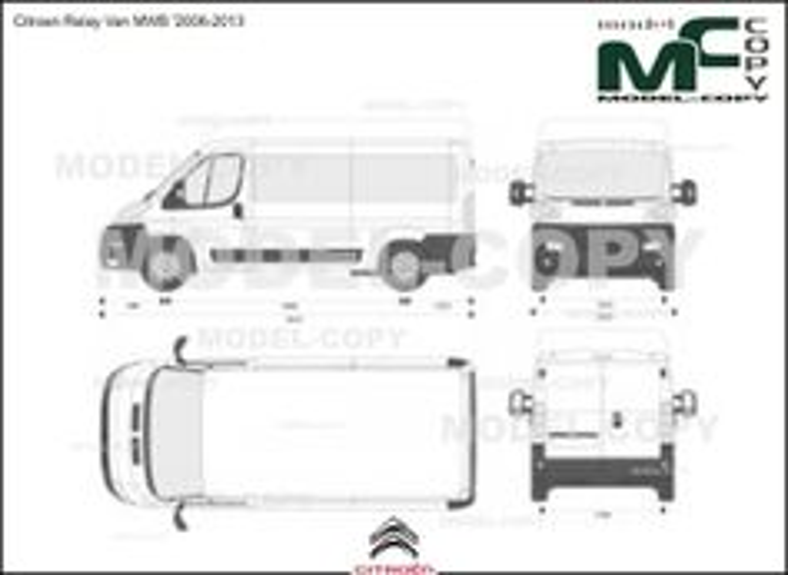 Citroen Relay Van MWB '2006-2013 - 2D-чертеж