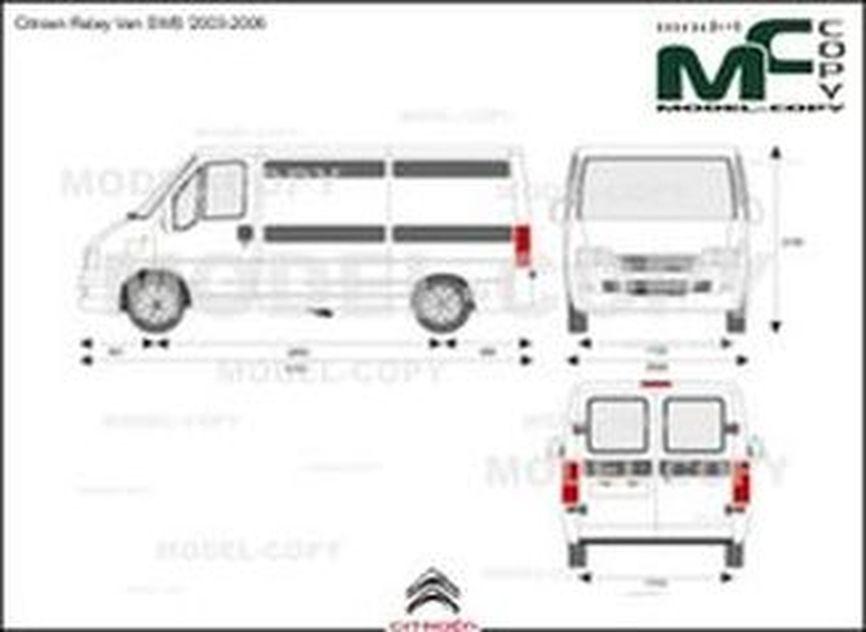 Citroen Relay Van SWB '2003-2006 - 2D図面